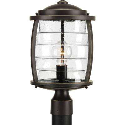 Signal Bay Collection 1-Light Oil-Rubbed Bronze Post Lantern