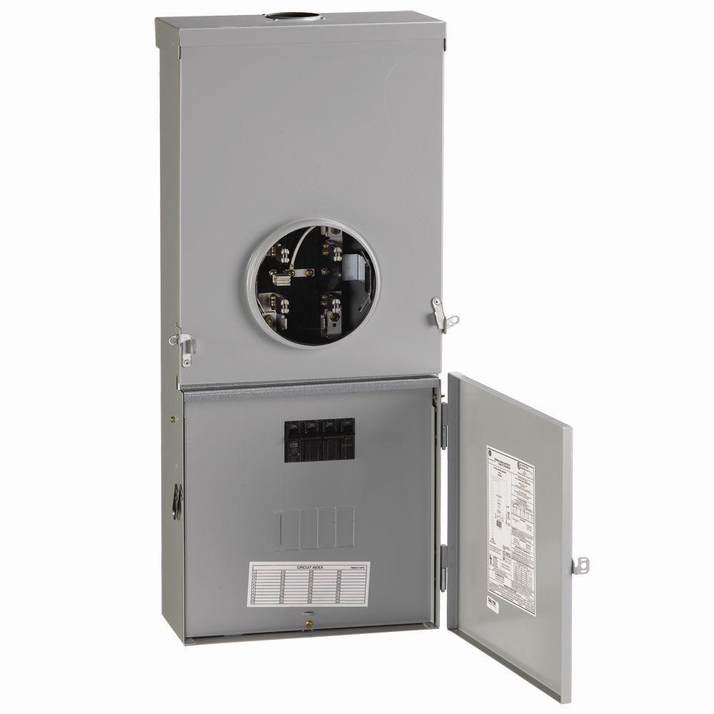PowerMark Gold 150 Amp 4-Space 8-Circuit Meter Socket Load Center