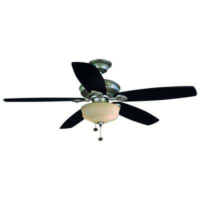 Sibley 52 in. Indoor Cambridge Silver Ceiling Fan with Light Kit