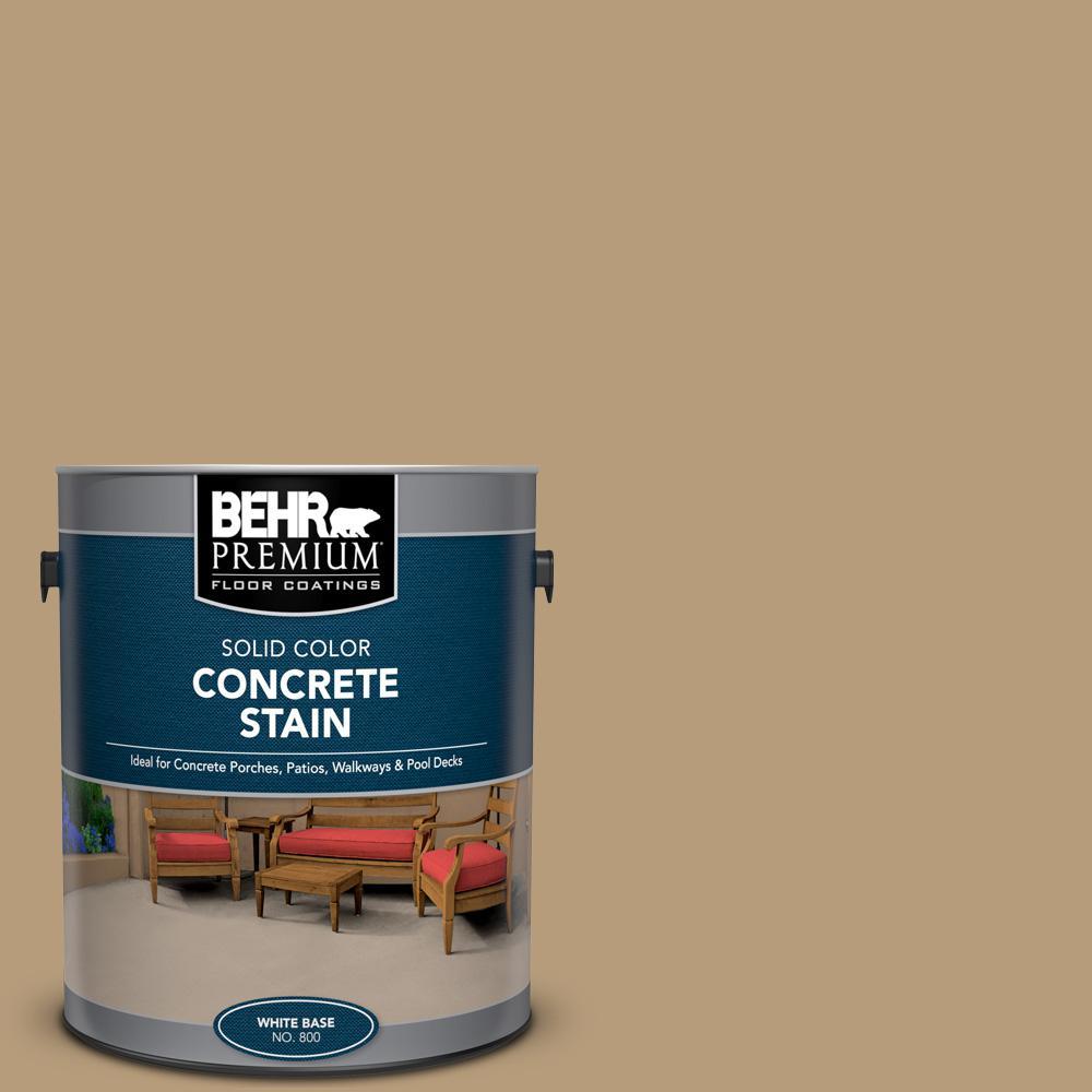 BEHR PREMIUM 1 gal. #PFC-28 Desert Sandstone Solid Color Flat Interior/Exterior Concrete Stain
