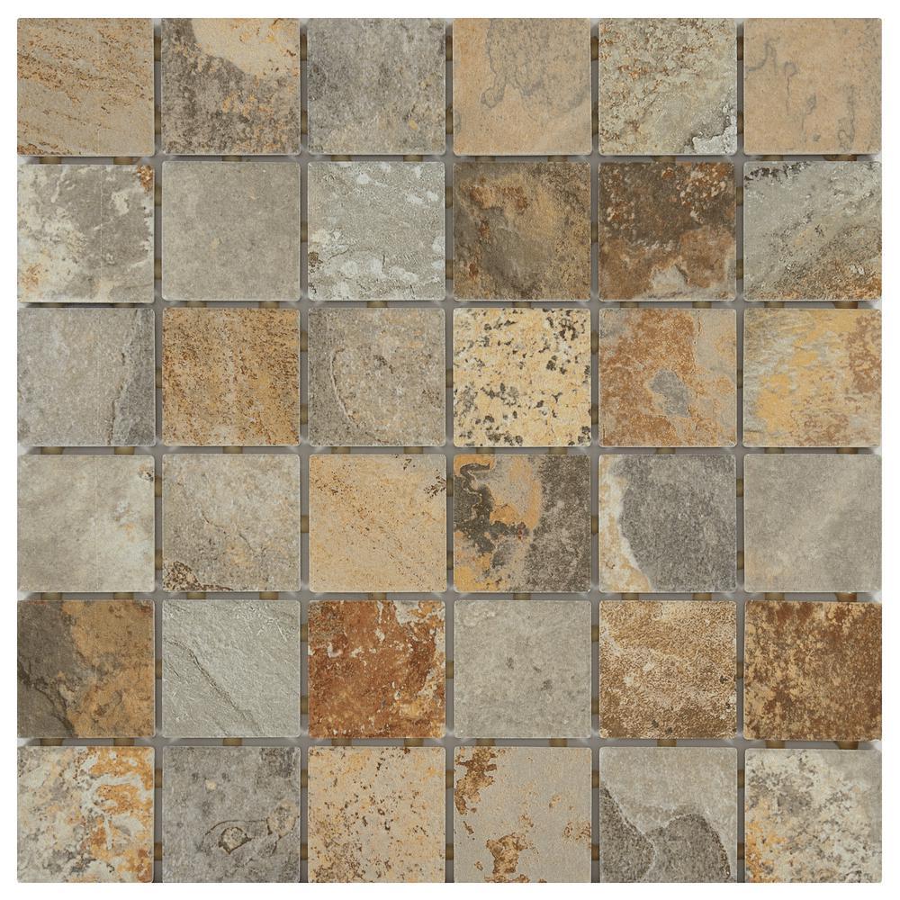 VitaElegante Ardesia 12 in. x 12 in. x 6.35 mm Ceramic Mosaic Tile