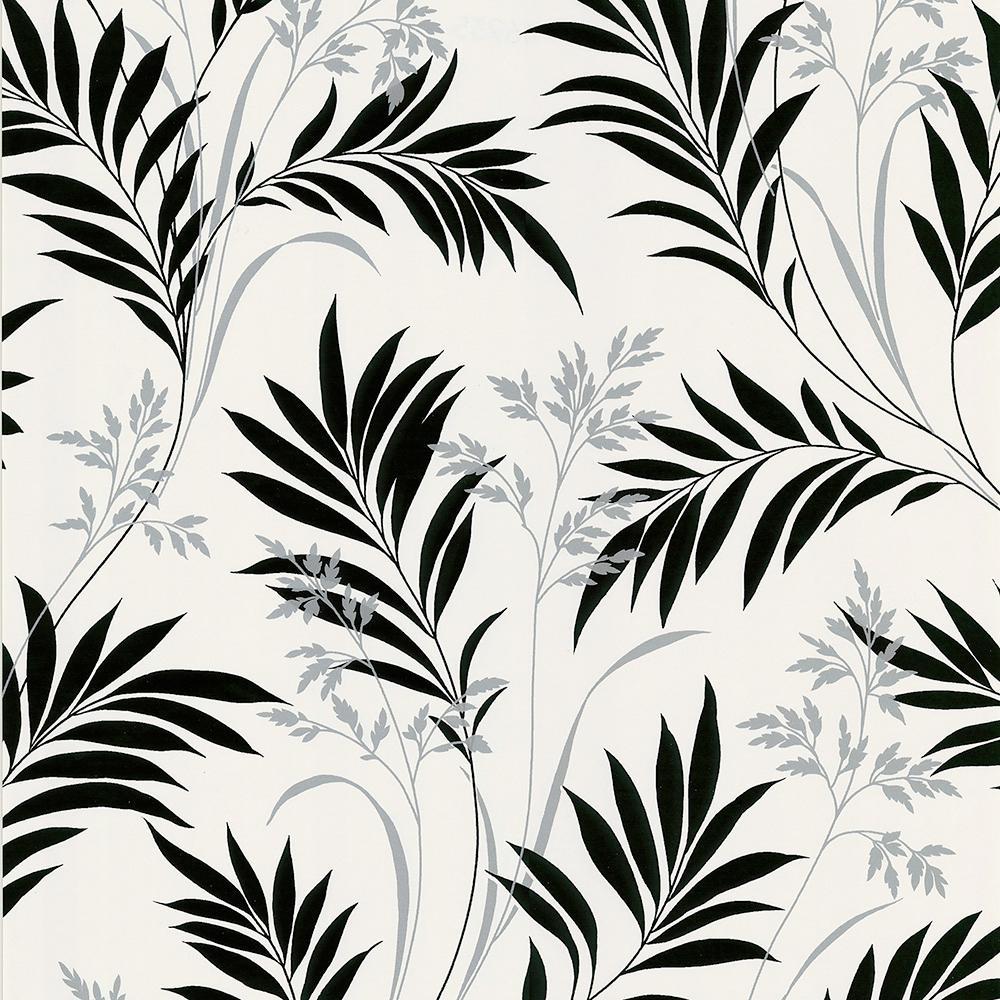 Brewster Midori White Bamboo Silhouette Wallpaper