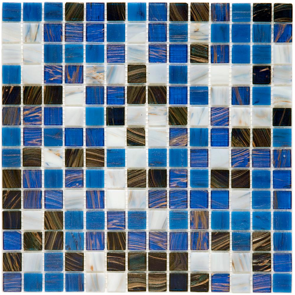 Merola Tile Coppa Marina 12 in. x 12 in. x 4 mm Glass Mosaic Tile ...