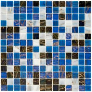 coppa marina 12 in x 12 in x 4 mm glass mosaic tile