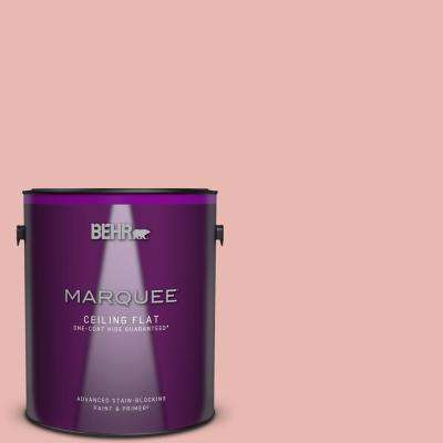 1 gal. #MQ4-04 Noble Blush One-Coat Hide Ceiling Flat Interior Paint and Primer in One