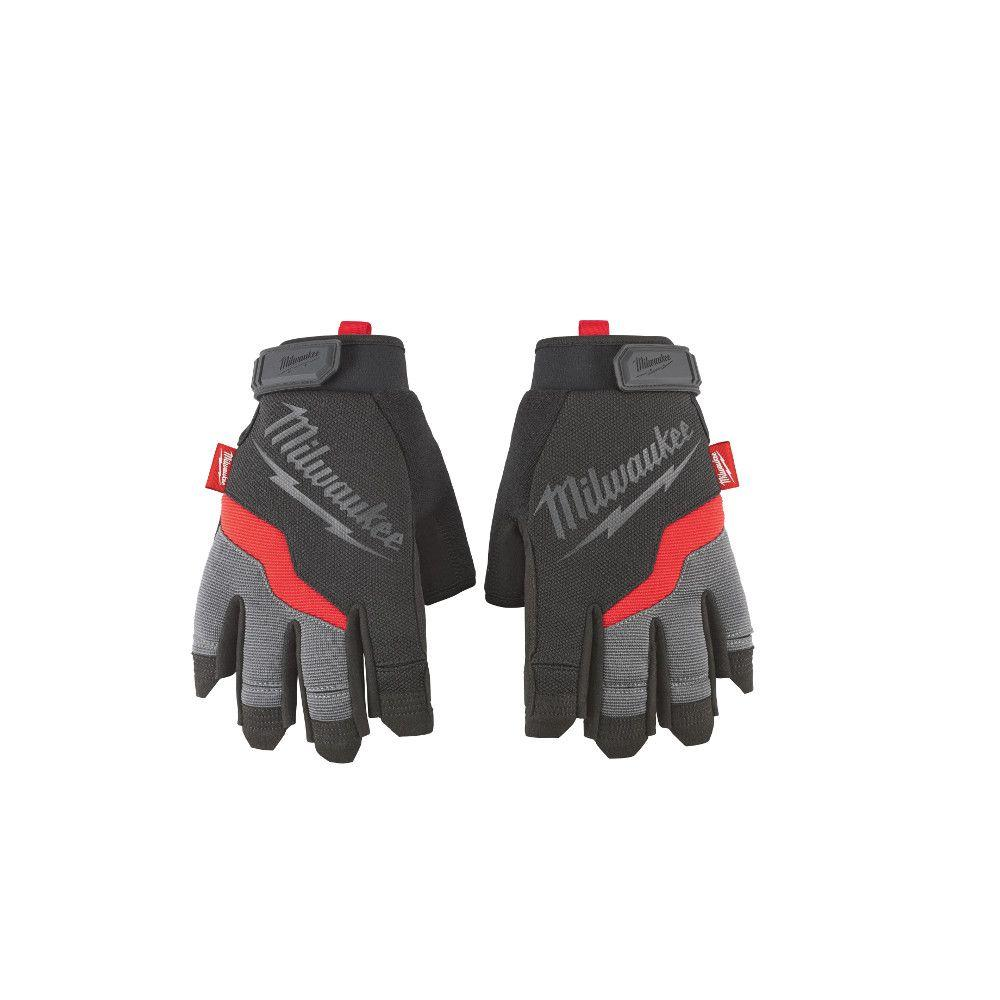 Milwaukee Large Fingerless Work Gloves 48 22 8742 The