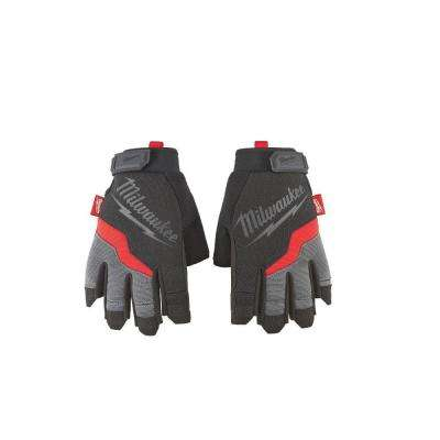 X-Large Fingerless Work Gloves