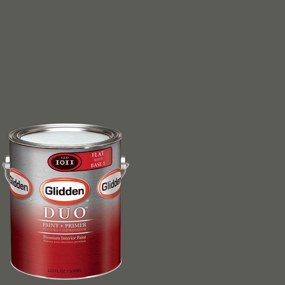 Glidden DUO Martha Stewart Living 1-gal. #MSL252-01F Ground Pepper Flat Interior Paint with Primer-DISCONTINUED