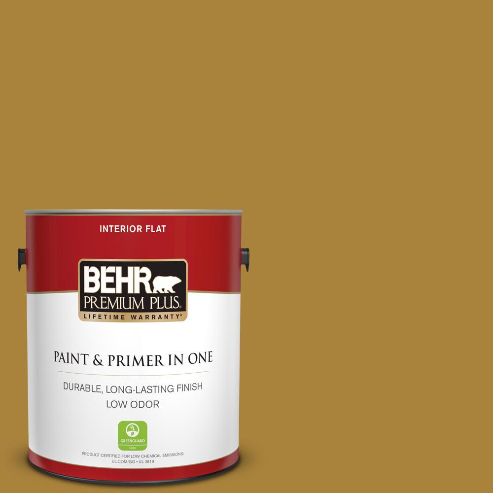 BEHR Premium Plus 1 gal  #MQ2-24 Golden Olive Flat Low Odor