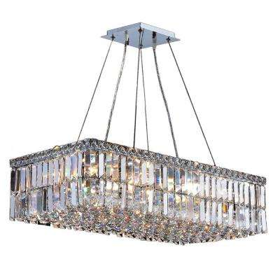 Cascade Collection 16-Light Polished Chrome Crystal Chandelier