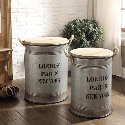 Coblestone 15.75 in. x 15.75 in. and 13.25 in. x 13.25 in. Storage Bin with Lid Set