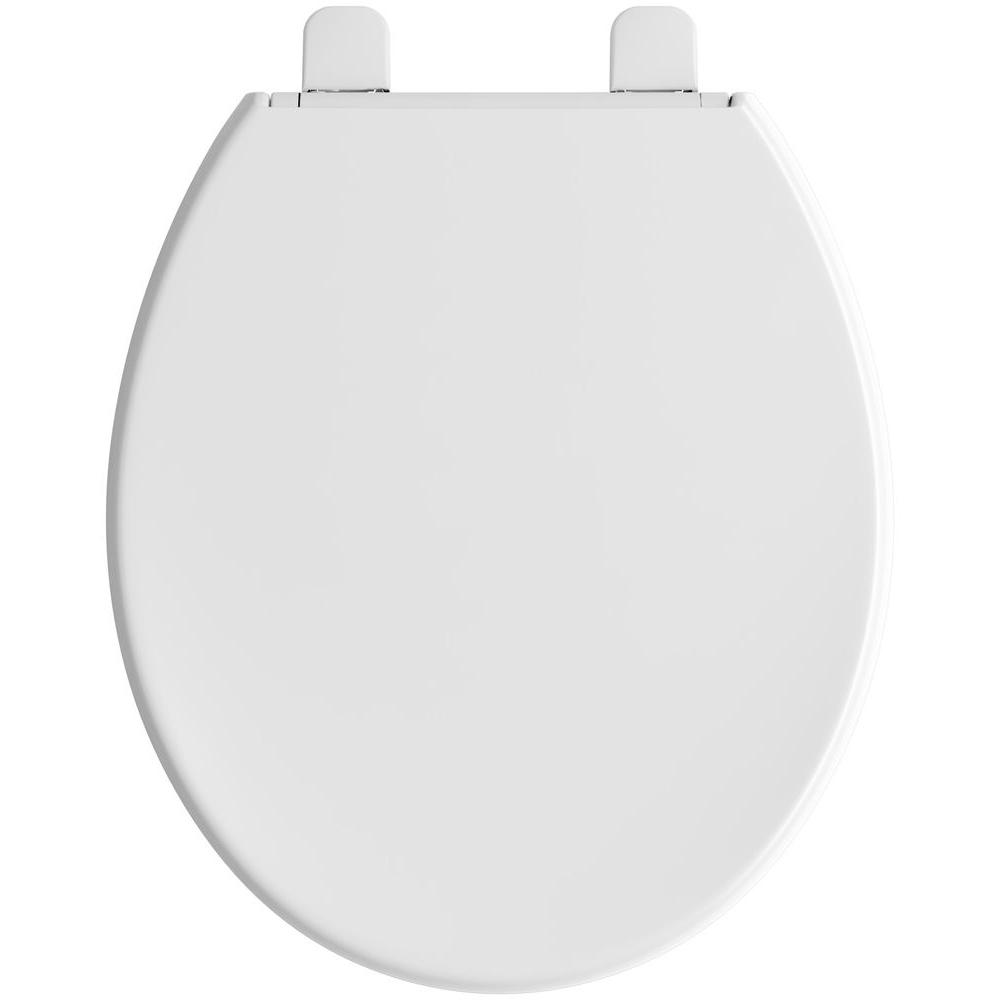 Round Closed Front Toilet Seat Quiet Close Lid Battery