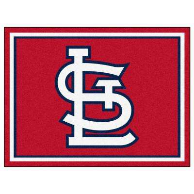 MLB - St. Louis Cardinals Red 8 ft. x 10 ft. Indoor Area Rug