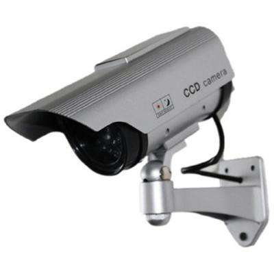 Wireless Solar Powered Fake Dummy Security Camera, Silver
