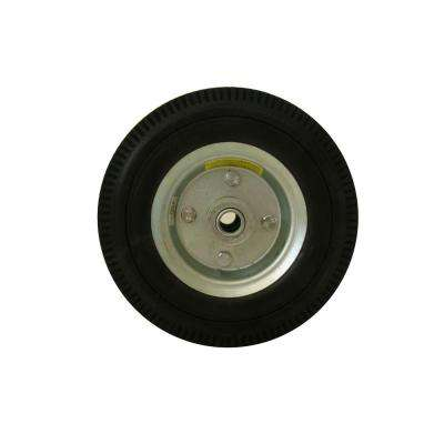 8 in. Flat Free Replacement Wheel