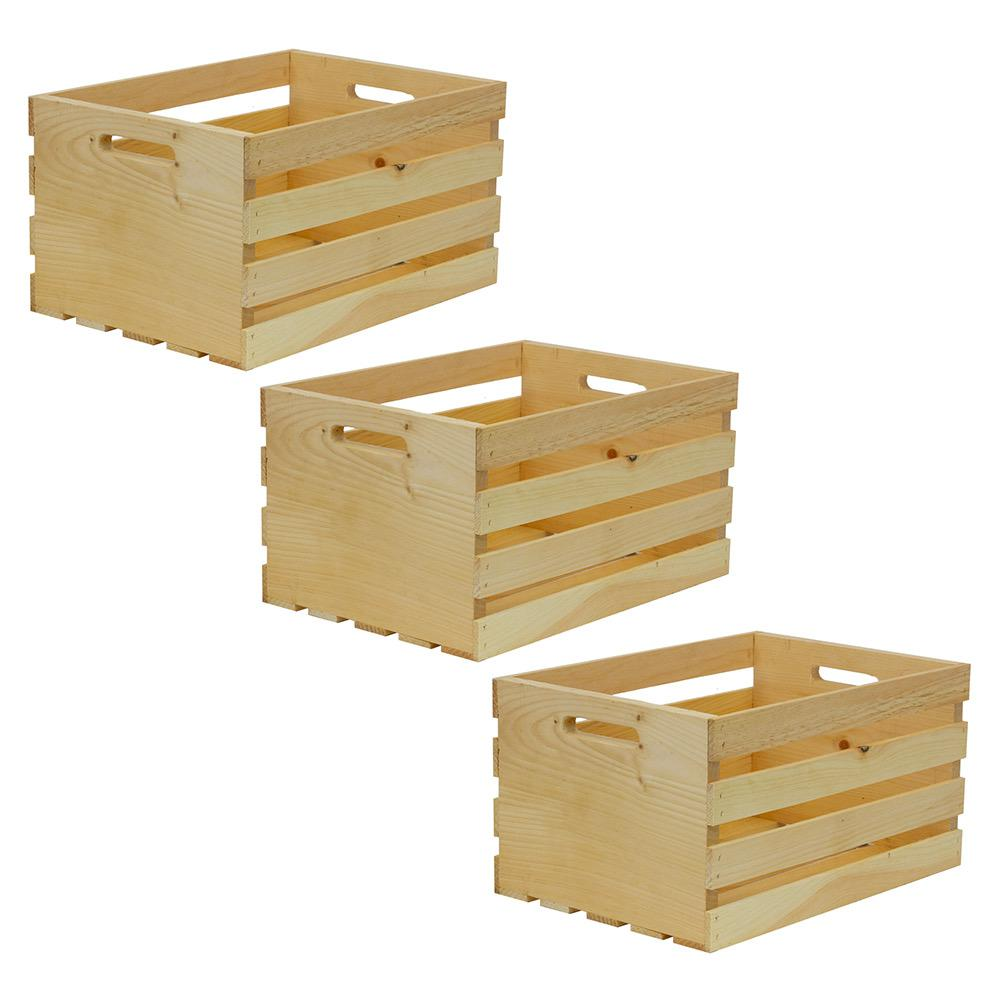 Crates Amp Pallet 18 In X 12 5 In X 9 5 In Large Wood