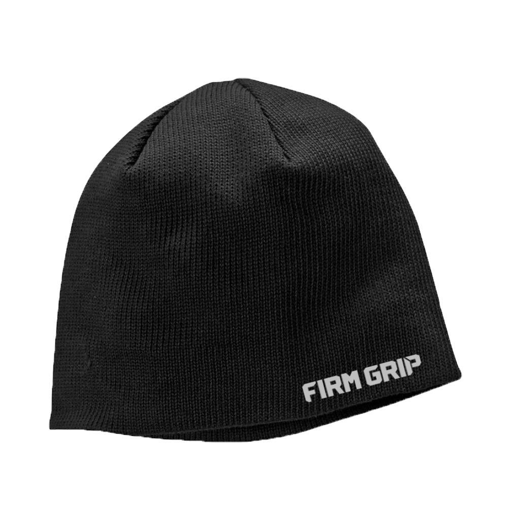 028496748 Firm Grip FG Black Beanie Cap-63408-36 - The Home Depot