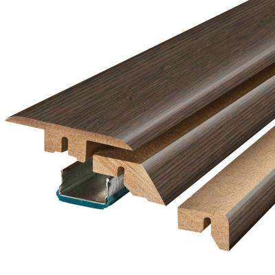 Java Scraped Oak/Warm Chestnut 3/4 in. Thick x 2-1/8 in. Wide x 78-3/4 in. Length Laminate 4-in-1 Molding