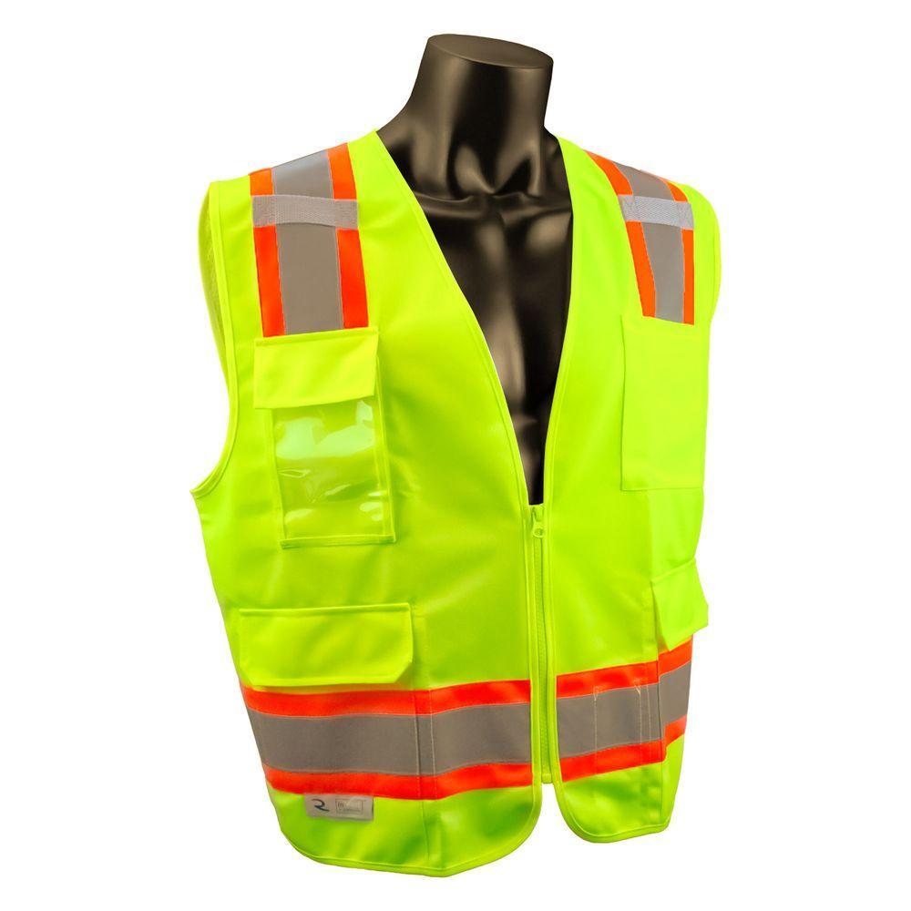 Extra Large Surveyor Green Two-Tone Vest