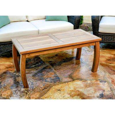 Jakarta Teak 20 in. x 40 in. Wood Rectangle Patio Coffee Table