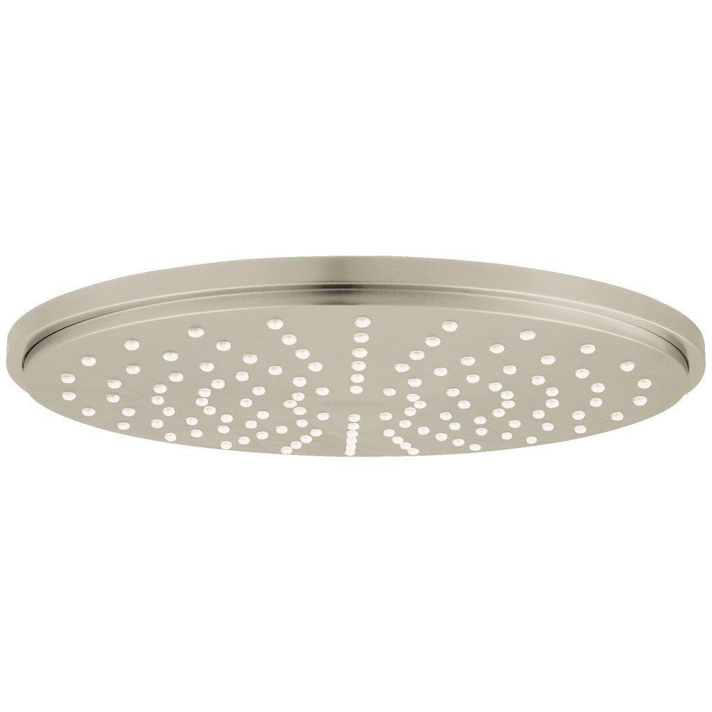 Rainshower Cosmopolitan 1-Spray 8 in. Raincan Fixed Showerhead in Brushed Nickel