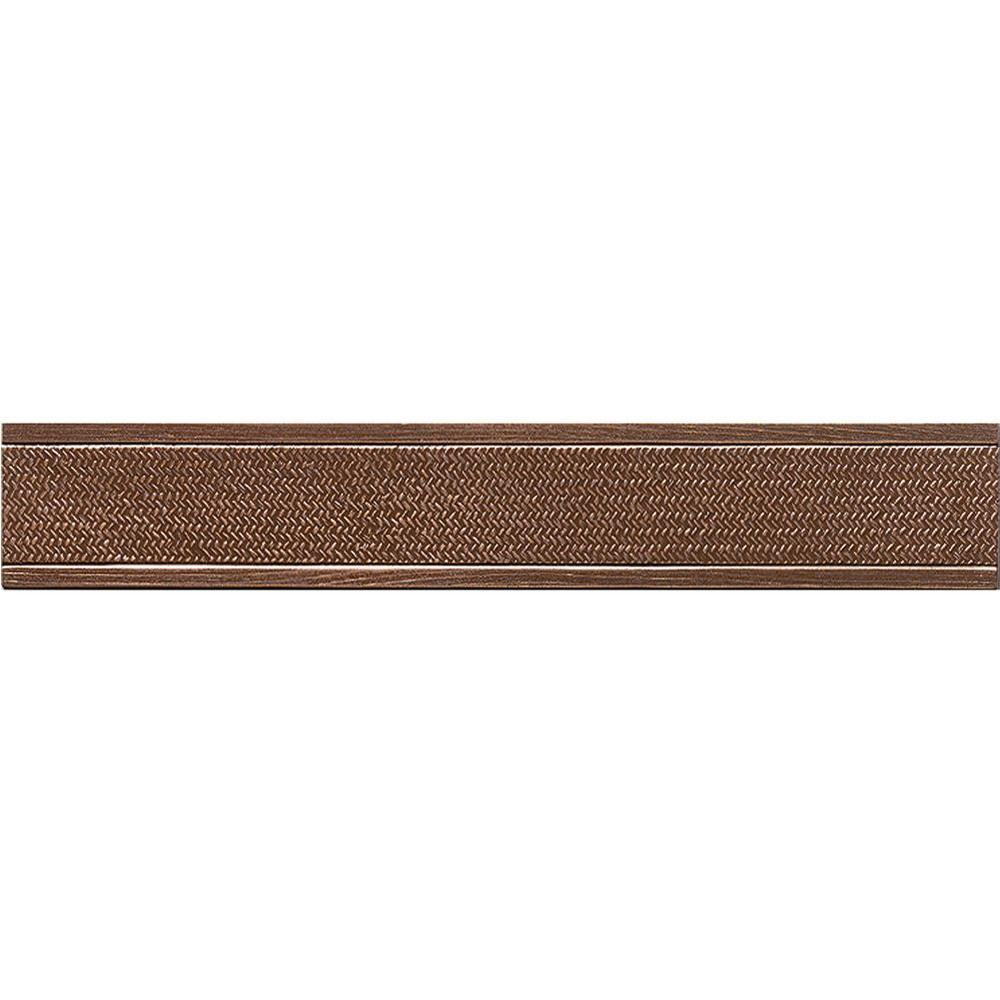 MARAZZI Montagna Bronze 2 in. x 12 in. Metal Resin Basketweave Trim Floor and Wall Tile