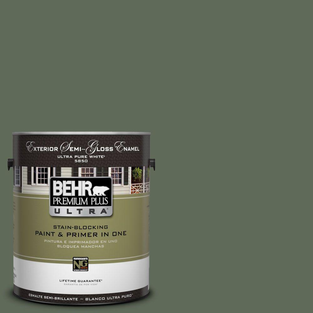 BEHR Premium Plus Ultra 1-Gal. #UL210-2 Royal Orchard Semi-Gloss Enamel Exterior Paint