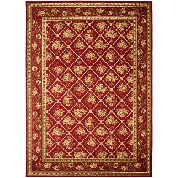 Safavieh Lyndhurst Red 8 Ft X 11 Ft Area Rug Lnh556 4040 8 The Home Depot