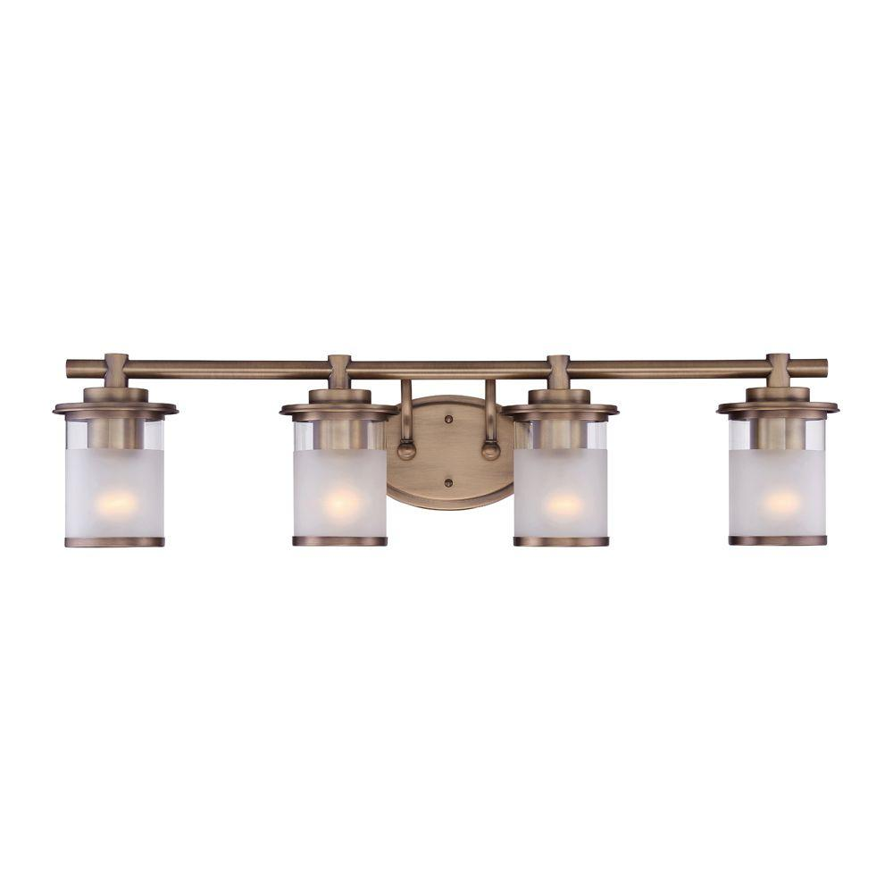 Bathroom Vanity Lights Brass: Designers Fountain Essense 4-Light Old Satin Brass