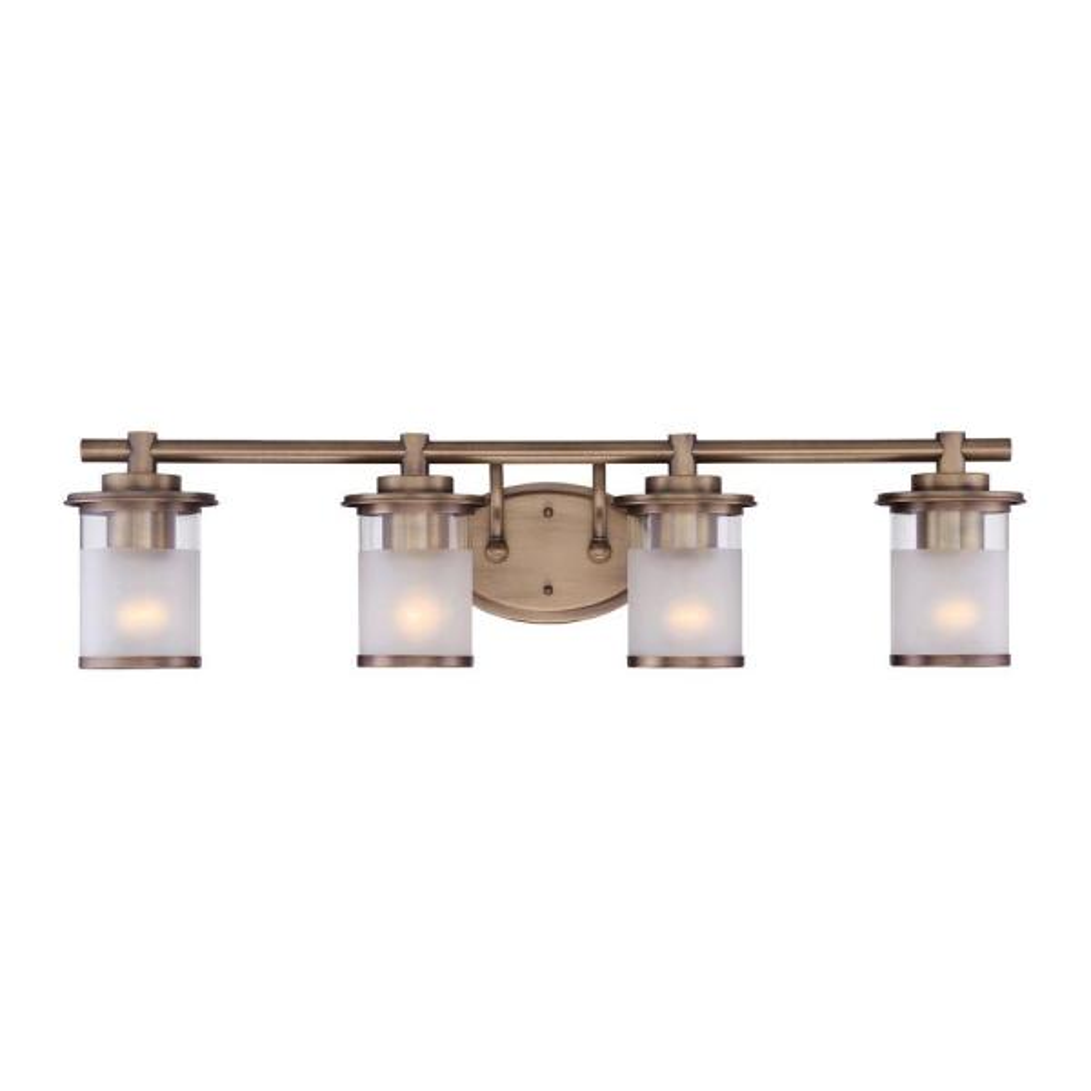 Essense 4-Light Old Satin Brass Interior Bath Vanity Light