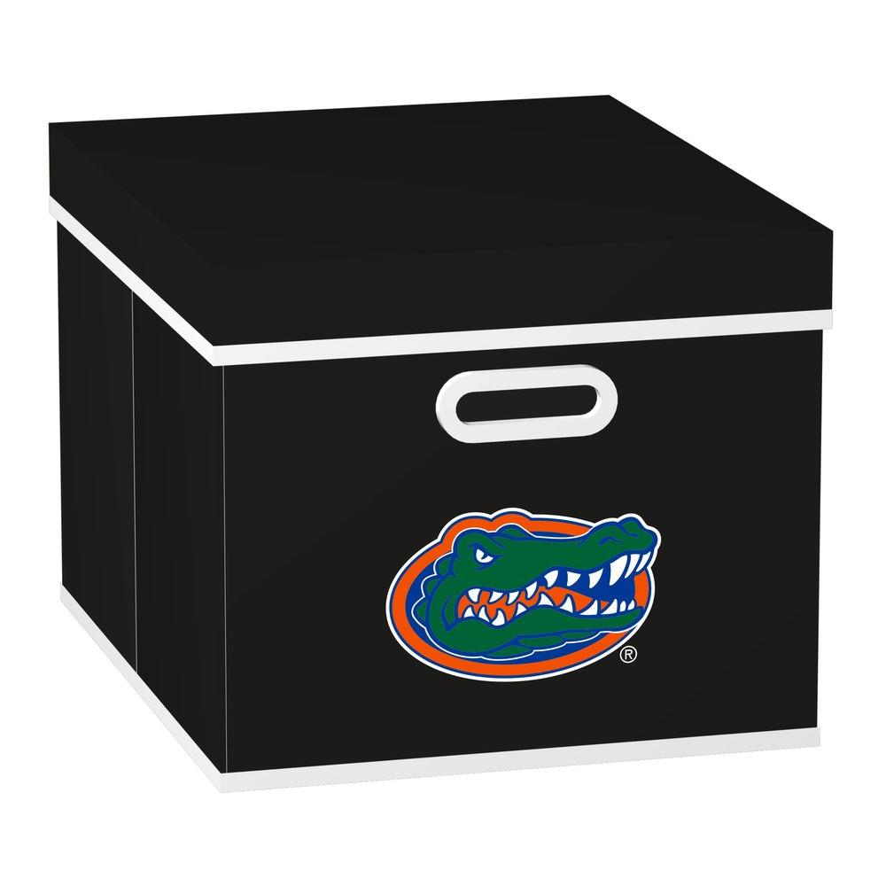 MyOwnersBox College STACKITS University of Florida 12 in. x 10 in. x 15 in. Stackable Black Fabric Storage Cube