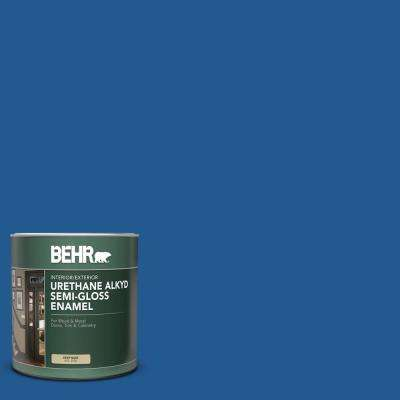 Behr 1 Qt S G 570 Sapphire Lace Semi Gloss Enamel Urethane Alkyd Interior Exterior Paint 393004 The Home Depot