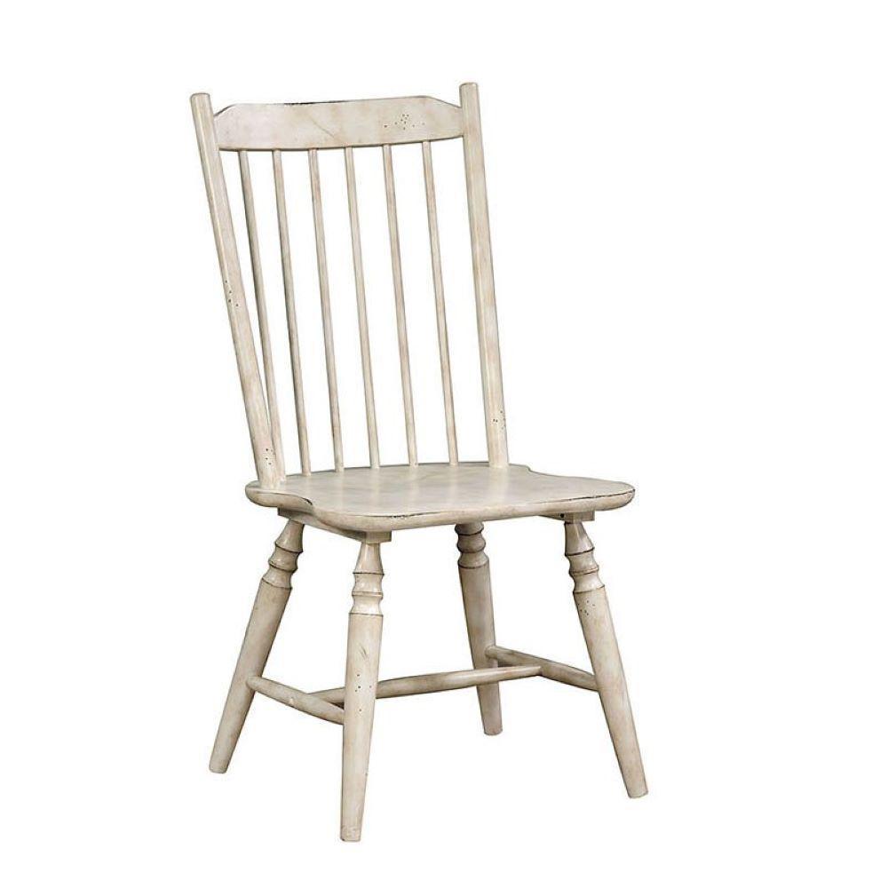 Ann Lee Antique White Side Chair