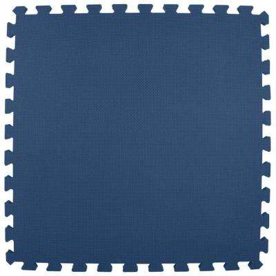 Premium Navy Blue 24 in. x 24 in. x 5/8 in. Foam Interlocking Floor Mat (Case of 25)