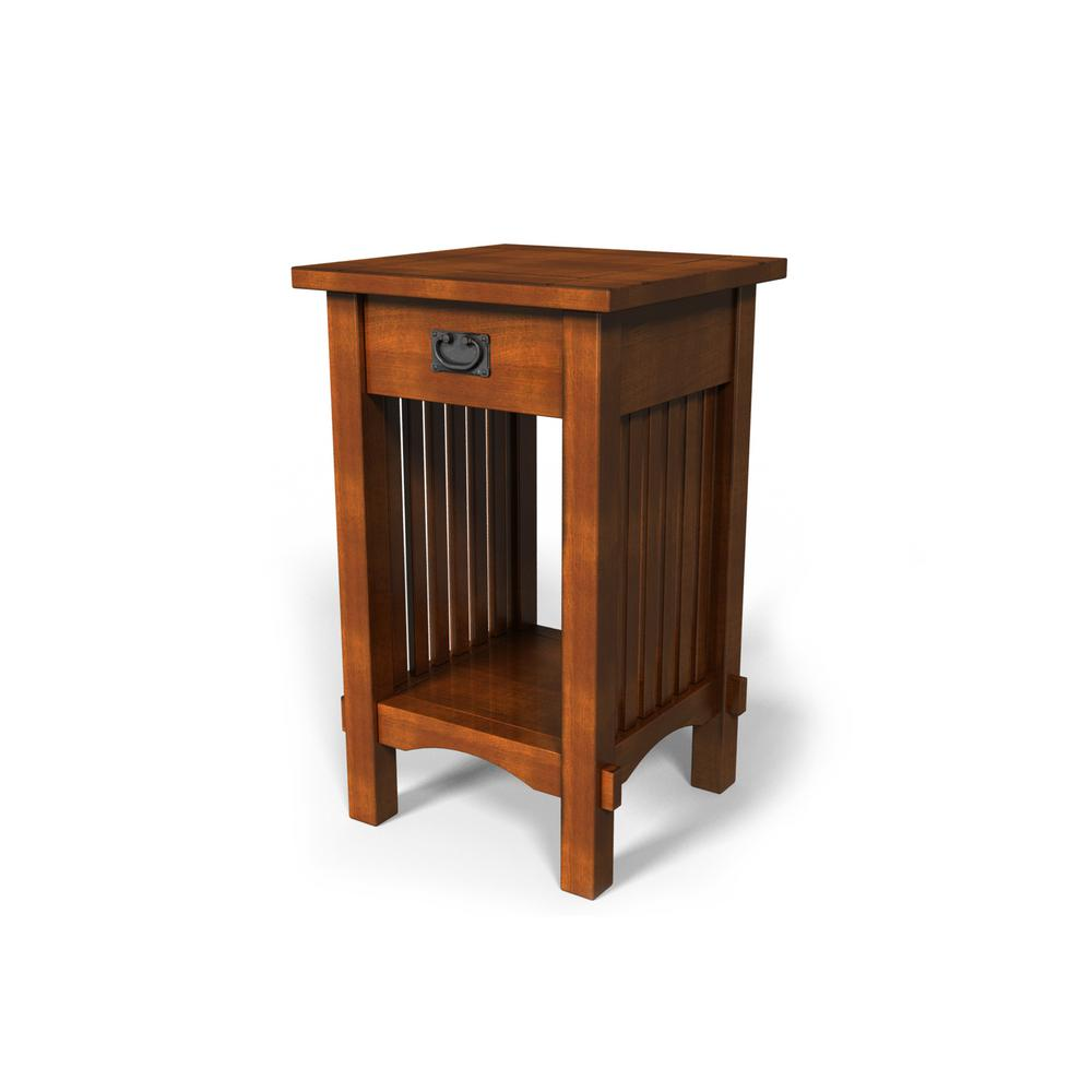 Tatum Antique Oak Single Drawer Side Table