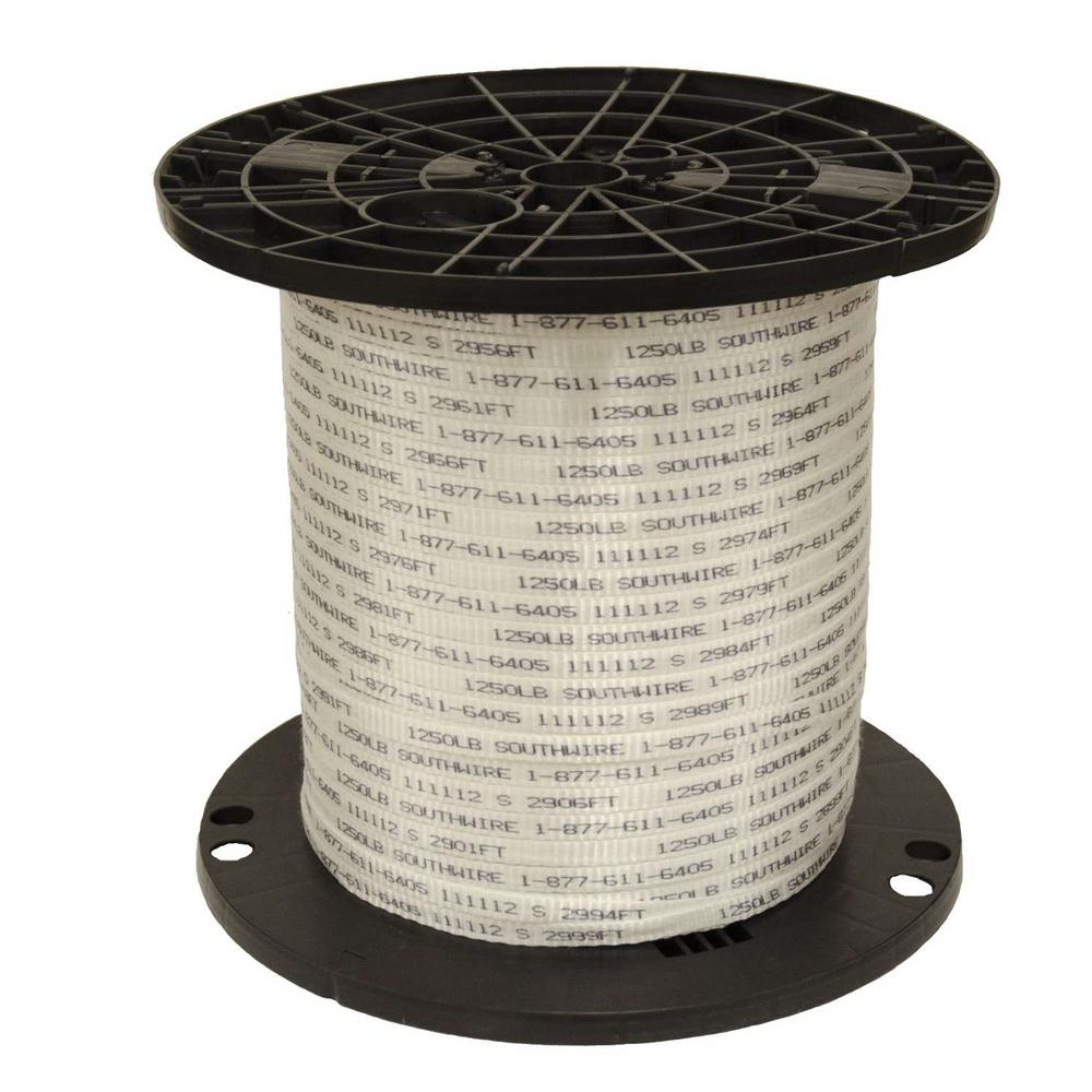 Southwire 1/2 in. x 3000 ft. #1250QWIK Tape Polyester Electrical ...