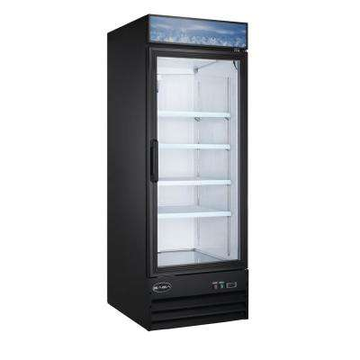 28 in. W 23 cu. ft. One Glass Door Merchandiser Commercial Reach In Upright Refrigerator Cooler in Black