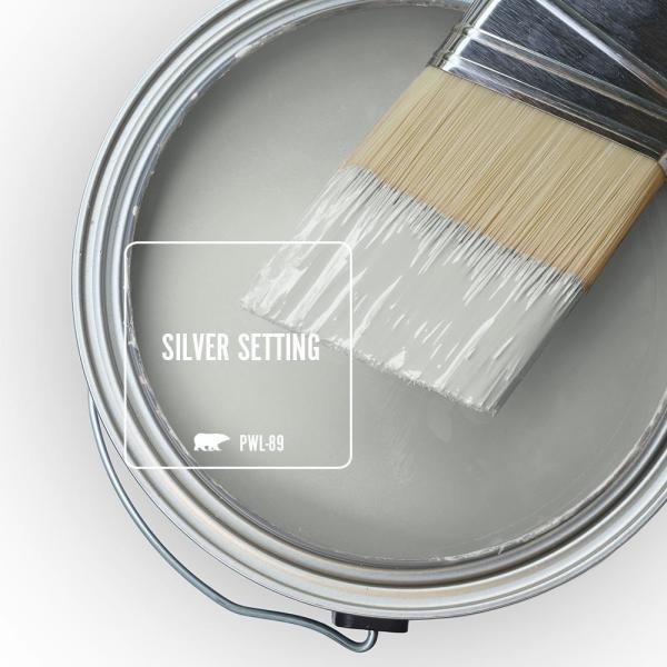 Reviews For Behr Premium Plus 5 Gal Pwl 89 Silver Setting Semi Gloss Enamel Low Odor Interior Paint And Primer In One 305005 The Home Depot