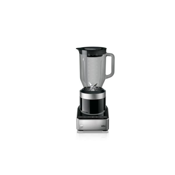PureMix 56 oz. 3-Speed Black and Stainless Steel Countertop Blender with Thermal Resistant Glass Jug