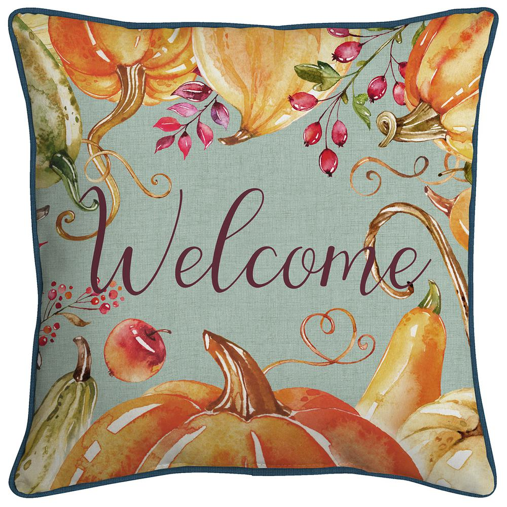Home Accents Holiday Welcome Pumpkins Decorative Pillow Eh16p01d 9d4