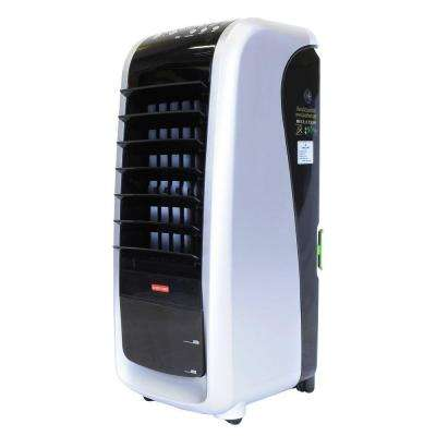 PacTrio 1200w Ceramic Heater with 300 CFM 3-Speed Portable Evaporative Cooler option suitable for 150 sq. ft.