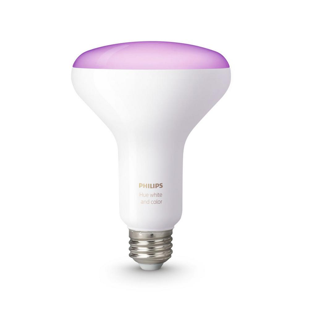 Philips hue white and color ambiance 65 watt equivalent br30 dimmable led smart flood light bulb Smart light bulbs