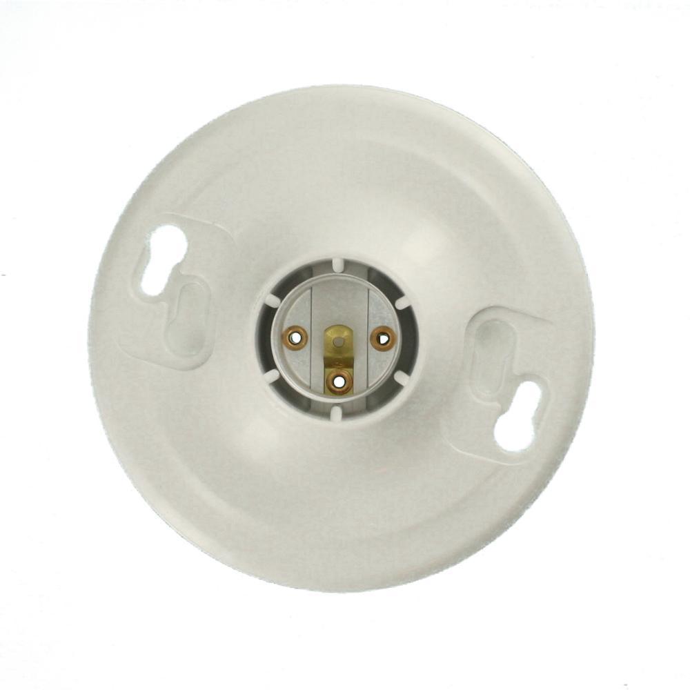 Leviton Plastic Keyless Lamp Holder R50 08829 Cw4 The Home Depot