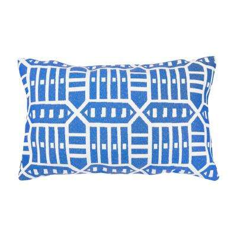 Roland Blue Lumbar Outdoor Accent Throw Pillow