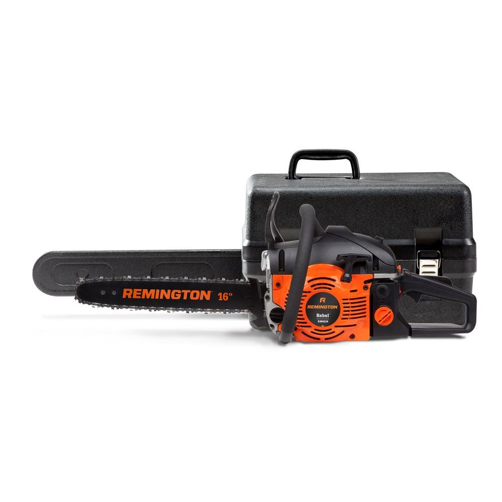 Remington 16 in 42cc 2 cycle gas chainsaw with carry case rm4216 remington 16 in 42cc 2 cycle gas chainsaw with carry case rm4216 rebel the home depot greentooth Gallery
