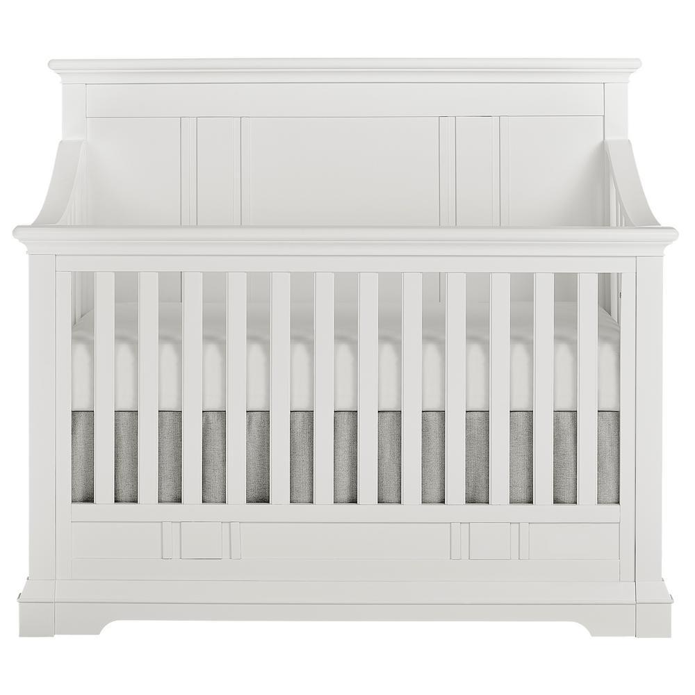 Evolur Winter White In Convertible Crib Parker