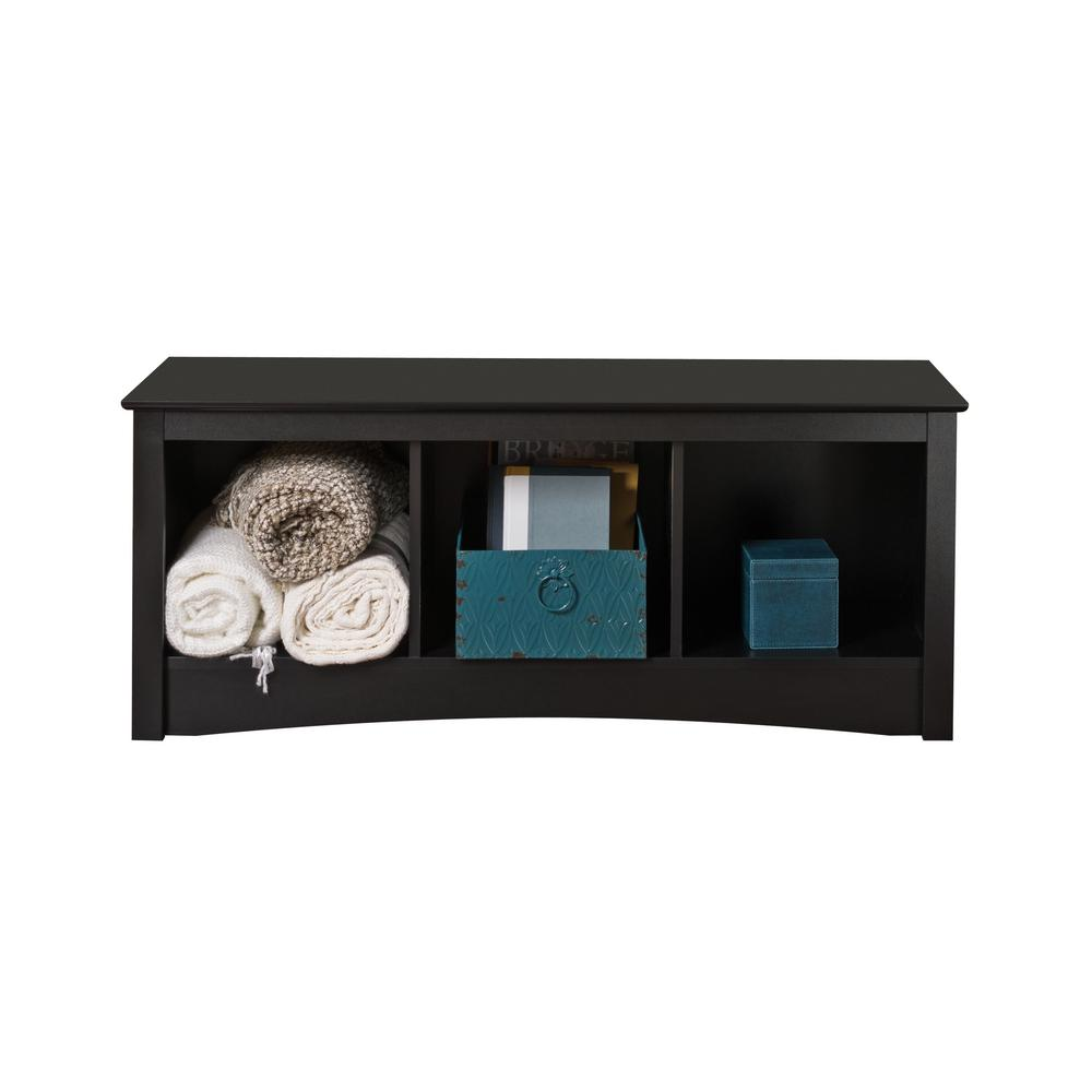 Exceptional Prepac Sonoma Black Storage Bench