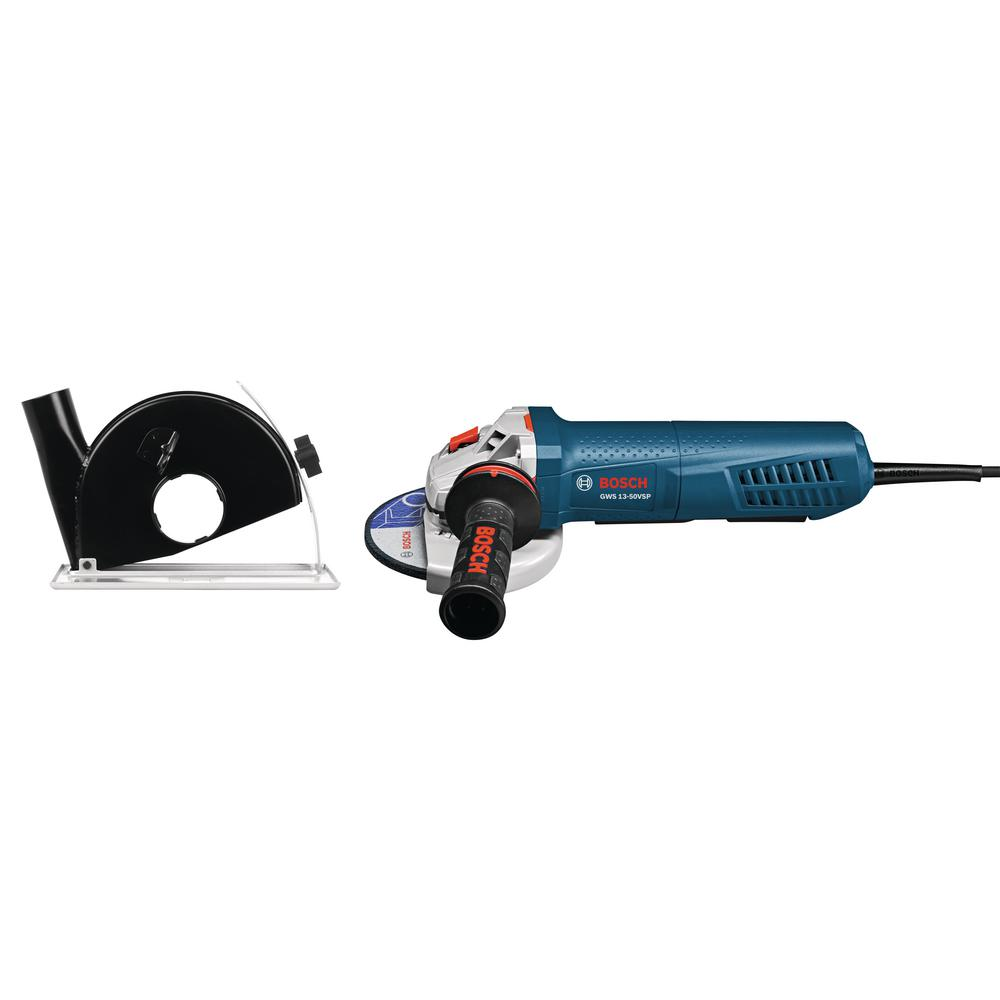 Bosch 13 Amp Corded 5 in. Variable Speed Angle Grinder with Paddle Switch and Dust Guard