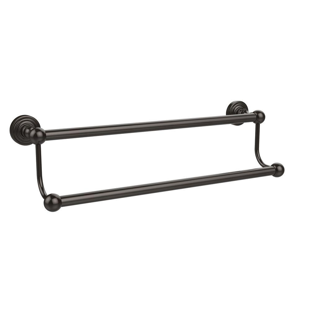 Allied Br Waverly Place Collection 36 In Double Towel Bar Oil Rubbed Bronze