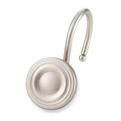 Circle Shower Hooks in Brushed Nickel (12-Pack)